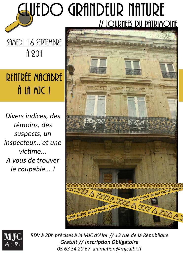 Affiche du Cluedo MJC
